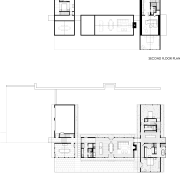 Modern country home plan by Robert M Gurney angle, architecture, area, black and white, design, diagram, drawing, elevation, floor plan, font, line, plan, product, product design, square, structure, technical drawing, text, white