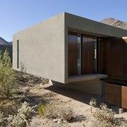 Minimalist desert new house - Minimalist desert new architecture, elevation, facade, home, house, landscape, property, real estate, black
