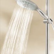 Other new products to Australian market include the plumbing fixture, product design, shower, tap, white