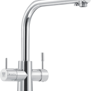 The Brita 3-way water filter dispenser replaces a bathtub accessory, hardware, plumbing fixture, product, product design, tap, white