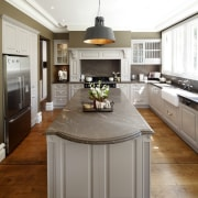 This traditional workspace is by Wonderful Kitchens cabinetry, countertop, cuisine classique, floor, interior design, kitchen, room, white, brown