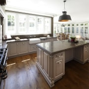 This traditional workspace is by Wonderful Kitchens cabinetry, countertop, cuisine classique, floor, flooring, hardwood, interior design, kitchen, laminate flooring, room, wood flooring, white, brown