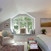 This master bedroom was the first part of bedroom, ceiling, estate, home, interior design, living room, real estate, room, suite, window, gray