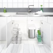 This traditional workspace is by Wonderful Kitchens angle, countertop, floor, furniture, kitchen, product, product design, sink, tap, white