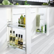 This traditional workspace is by Wonderful Kitchens furniture, product design, shelf, shelving, white