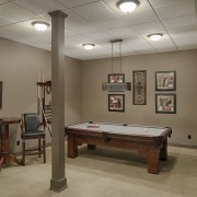 By special request  Details Consulting Group- Major billiard room, ceiling, floor, furniture, interior design, recreation room, room, table, brown, gray