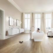 Its the absence of ornate detailing that enhances ceiling, floor, flooring, furniture, hardwood, home, interior design, laminate flooring, living room, room, tile, window, wood, wood flooring, white