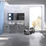 Cass Brothers is a leading Sydney bathroomware specialist architecture, bathroom, floor, flooring, interior design, product design, room, tile, wall, gray, white