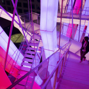 Raffles City Chengdu by Steven Holl Architects - architecture, design, light, magenta, pink, purple, structure, violet, purple