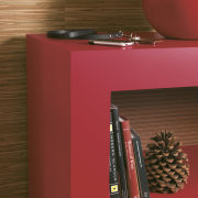 Fashion forward  Laminex Formica ColorCore - Fashion orange, product, product design, shelf, table, red, brown