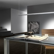 Most of the decorative LED lighting at Lighthouse ceiling, floor, furniture, interior design, lamp, light fixture, lighting, product design, table, wall, black, gray