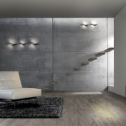 Decorative lighting is an integral part of the angle, ceiling, floor, flooring, furniture, interior design, laminate flooring, living room, product design, tile, wall, wood flooring, gray