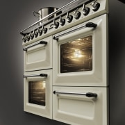 The 90cm-wide Victoria is also available in an gas stove, home appliance, kitchen appliance, kitchen stove, major appliance, oven, black, gray