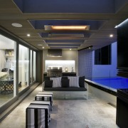 Contemporary outdoor entertaining area - Contemporary outdoor entertaining ceiling, interior design, lighting, living room, lobby, black, gray