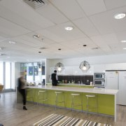 Bold, bright and with several surprise elements, the ceiling, daylighting, interior design, gray
