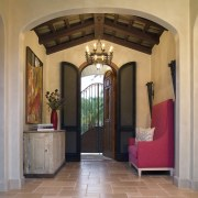 Spanish style interior - Spanish style interior - arch, ceiling, door, estate, home, interior design, lobby, property, real estate, brown, orange