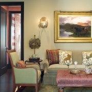 Spanish style interior - Spanish style interior - couch, furniture, home, interior design, living room, real estate, room, suite, table, wall, window, orange