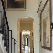 Spanish style interior - Spanish style interior - ceiling, door, estate, floor, flooring, hall, handrail, home, house, interior design, stairs, window, gray