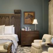 Spanish style interior - Spanish style interior - bed frame, bedroom, ceiling, furniture, home, interior design, living room, room, suite, wall, window, wood, gray, brown