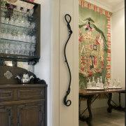Spanish style interior - Spanish style interior - furniture, home, interior design, room, table, wall, orange, brown