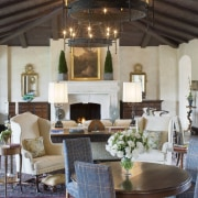 Spanish style interior - Spanish style interior - ceiling, dining room, furniture, home, interior design, living room, room, table, gray