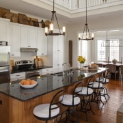 Kitchen in Amish style new home - Kitchen cabinetry, countertop, cuisine classique, interior design, kitchen, room, gray, brown