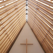 Beca project managed the design and construction of daylighting, line, roof, symmetry, wall, wood, wood stain, gray, orange, brown
