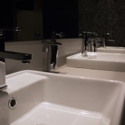 Carboni II vitreous china inset vanity basins with bathroom, bathroom sink, bidet, plumbing fixture, product design, sink, tap, black, gray