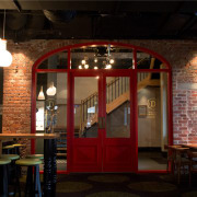 Bar restoration with Caroma and Fowler fittings - interior design, lighting, restaurant, black, brown