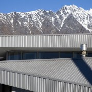 Fabricators Ellisons Aluminium combined products from Aluminium Systems alps, architecture, building, daylighting, elevation, facade, house, mountain, mountain range, real estate, roof, sky, snow, structure, winter, gray