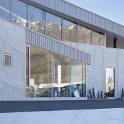 Fabricators Ellisons Aluminium combined products from Aluminium Systems architecture, building, commercial building, corporate headquarters, facade, house, structure, window, teal