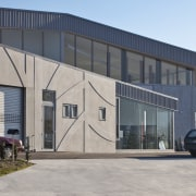 Fabricators Ellisons Aluminium combined products from Aluminium Systems architecture, building, commercial building, corporate headquarters, facade, property, real estate, shed, structure, gray
