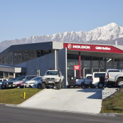 Fabricators Ellisons Aluminium combined products from Aluminium Systems building, car, car dealership, filling station, motor vehicle, real estate, vehicle, teal