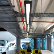 AFS Total Fire Protection supplied and installed the architecture, ceiling, daylighting, interior design, office, gray, black