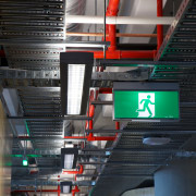 AFS Total Fire Protection supplied and installed the architecture, building, metropolitan area, structure, black, gray