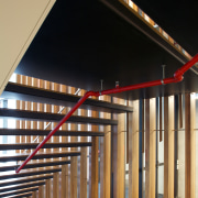AFS Total Fire Protection supplied and installed the architecture, daylighting, handrail, lighting, stairs, structure, wood, black