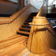 Pre-finished spotted gum floor by Hardwood Technology architecture, floor, flooring, furniture, hardwood, interior design, laminate flooring, stairs, wood, wood flooring, wood stain, orange, brown