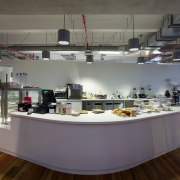 ASB North Wharf joinery by Sage Manufacturing - cafeteria, interior design, retail, gray