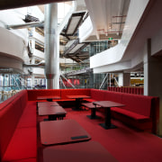 ASB North Wharf joinery by Sage Manufacturing - architecture, daylighting, furniture, interior design, structure, table, red