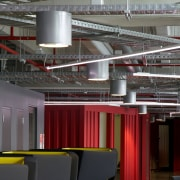 Zig-zag lighting by Aesthetics LIghting was custom designed architecture, ceiling, interior design, structure, black, gray