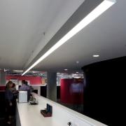 Zig-zag lighting by Aesthetics LIghting was custom designed architecture, ceiling, daylighting, interior design, lighting, product design, gray