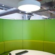 Zig-zag lighting by Aesthetics LIghting was custom designed architecture, ceiling, daylighting, interior design, light, light fixture, lighting, product design, table, green, gray