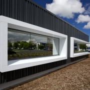An architectural metal facade by Metal Design Solutions architecture, facade, house, window, black