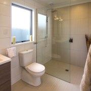 GJ Gardner Homes show home Havelock North - bathroom, home, interior design, property, real estate, room, gray, brown