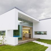 Contemporary new home - Contemporary new home - architecture, elevation, facade, home, house, property, real estate, white