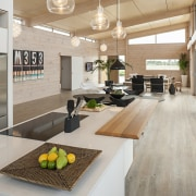 Lockwood show home Tauranga - With is raked countertop, interior design, kitchen, real estate, gray