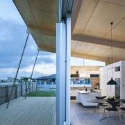 Lockwood show home Tauranga A high raking roof apartment, architecture, daylighting, deck, house, interior design, real estate, roof, teal