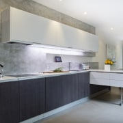 Highly functional kitchen by Colin Wright of Porcelanosa architecture, cabinetry, countertop, cuisine classique, interior design, interior designer, kitchen, gray