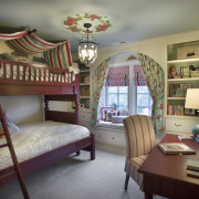 This bedroom is for a girl who wanted bed, bedding, bedroom, ceiling, furniture, home, interior design, real estate, room, textile, gray