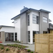 Palliside weatherboards provided just the right look for building, cottage, elevation, estate, facade, home, house, property, real estate, residential area, roof, siding, white
